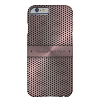 Customized Pink Metallic Barely There iPhone 6 Case