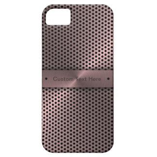 Customized Pink Metallic iPhone 5 Cover
