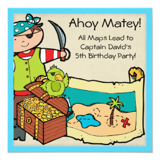Customized Pirate Party Pirates Birthday Invites