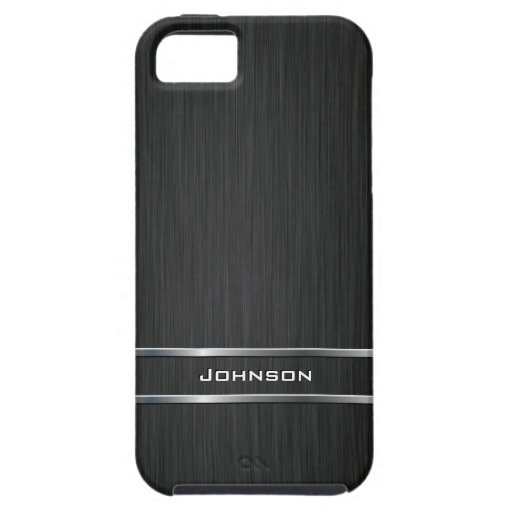Customized Pure Brushed Metal with Silver Bar   iPhone 5 Covers