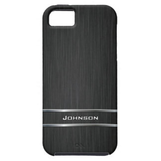 Customized Pure Brushed Metal with Silver Bar | iPhone 5 Covers