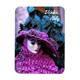 Customized Purple Carnival Costume Rectangular Photo Magnet
