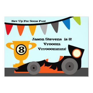 Customized Racing Car Birthday Invitations