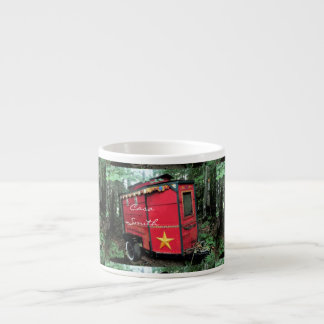Customized Red Gypsy tiny caravan On caravan Espresso Cup