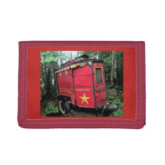 Customized Red Gypsy tiny caravan Thunder_Cove Tri-fold Wallet