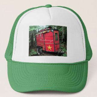 Customized Red Gypsy tiny caravan Trucker Hat