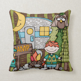 Customized Red Haired Boy Camping Pillow