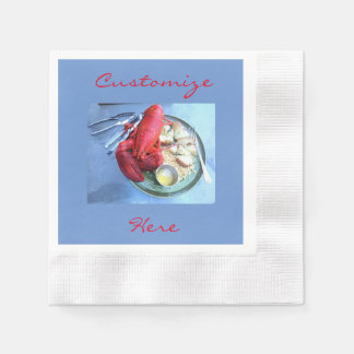 Customized red lobster napkins disposable serviette