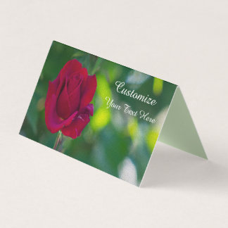 Customized Red Rose Card