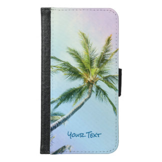 Customized Relaxing Rainbow Color Palms Samsung Galaxy S6 Wallet Case