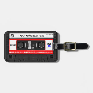 Customized Retro Music Cassette Tape Luggage Tag