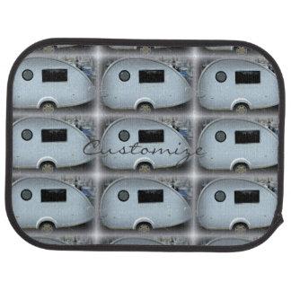 Customized Retro teardrop camper Car Mat