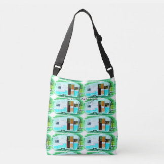 Customized Retro Vintage  caravan camper Crossbody Bag