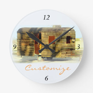 Customized Retro Vintage weathered caravan Round Clock