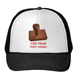 Customized Rubber Stamp impression 2 Hat