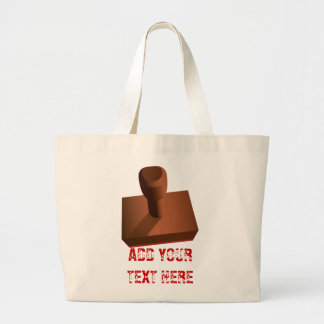 Customized Rubber Stamp impression 2 Jumbo Tote Bag