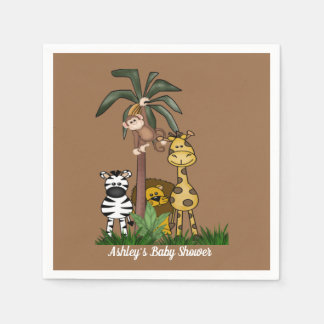 Customized  Safari Jungle Baby Shower Disposable Serviette