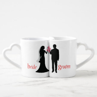 Customized Silhouette Bride and Groom Lovers Mugs