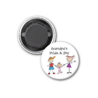 Customized Stick Figures Magnet