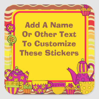 Customized Tea Party Stickers