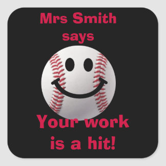 Customized Teacher stickers -  work is a hit
