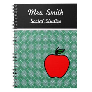 Customized  Teacher's  Apple Class School Notebook