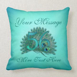 Customized text elegant 56th Birthday 56 Pillow