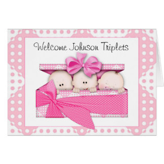 Customized Triplets Greeting Card