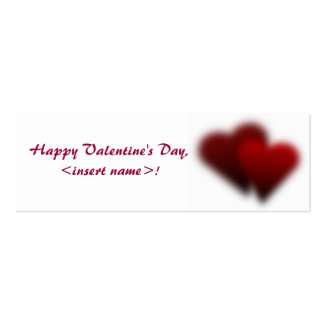 Customized Valentine's Day Coupons Business Card Template