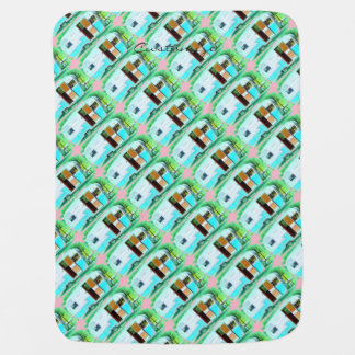 Customized vintage retro campers baby blanket