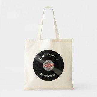 Customized Vinyl Record Budget Tote Bag