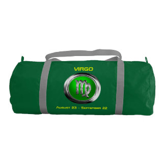 Customized Virgo Zodiac Symbol Gym Duffel Bag