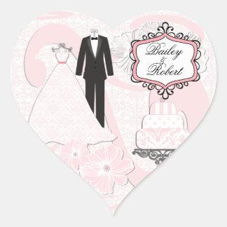 Customized Wedding Attire Heart Stickers