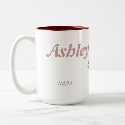 Customized Wedding Date Mug