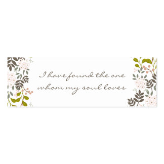Customized Wedding Invitation Embellishment Tag Pack Of Skinny Business Cards