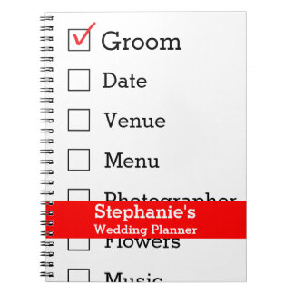 Customized Wedding Planner Checklist Note Books