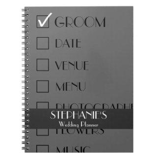 Customized Wedding Planner Checklist Notebook
