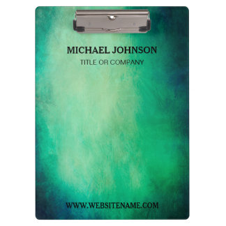 Customized with Logo Elegant Green Vintage Clipboards