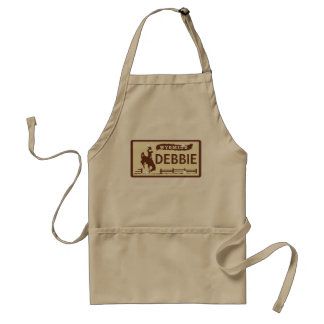 Customized Wyoming License Plate Standard Apron