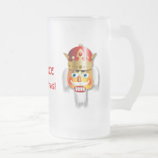Customized Xmas Nutcracker King Frosted Glass Beer Mug