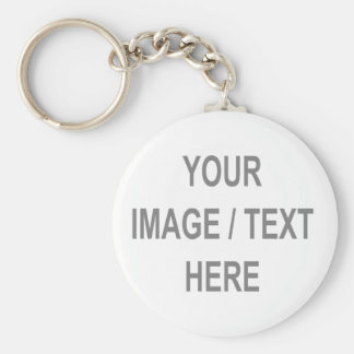 Customized Your Image-Text Here Basic Round Button Key Ring