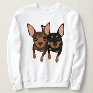 CustomMade Chocolate and Black Min Pin Sweatshirt