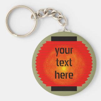 customs paper lantern (red) basic round button key ring