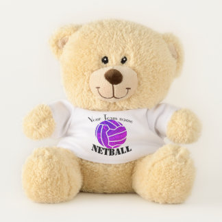 CustomTeam Name Personalised Netball Teddy Bear