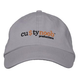 Custy Noob productions hat Embroidered Baseball Caps