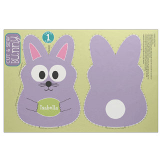 Cut and Sew Customized Easter Bunny Stuffed Animal Fabric