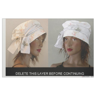 Cut and Sew Shabby Faded Ethnic Cloth HAT
