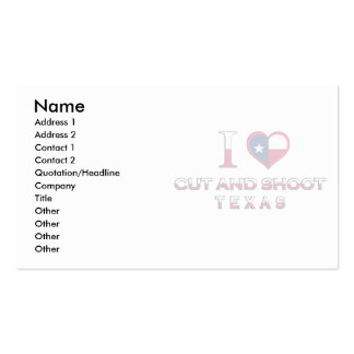 Cut and Shoot, Texas Business Cards