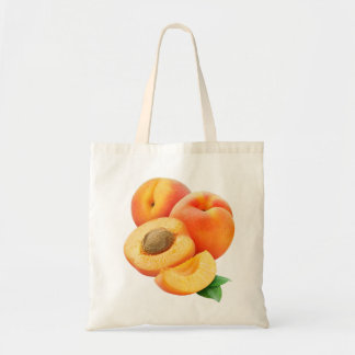 Cut apricots budget tote bag