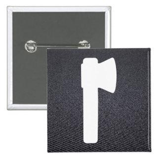 Cut Axes Minimal 15 Cm Square Badge